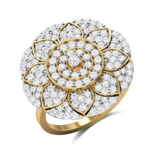 Zaire Floral Diamond Cocktail Ring