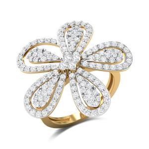 Thaddeus Floral Diamond Cocktail Ring