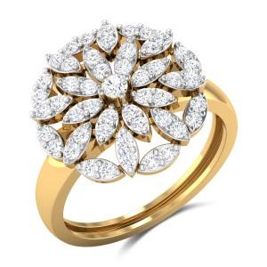 Jakobe Floral Diamond Ring