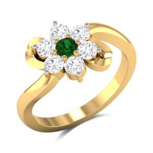 Jaylon Floral Diamond Ring