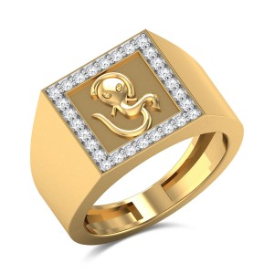 Om Ganesha Diamond Ring