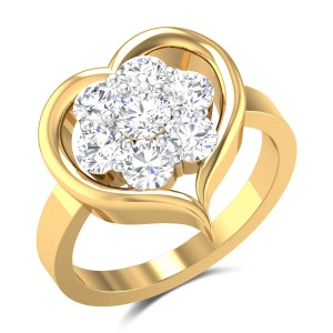 Jabari Floral Heart Diamond Ring