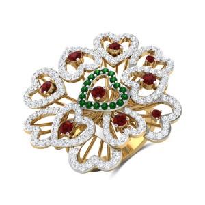 Haiden Heart Diamond Cocktail Ring