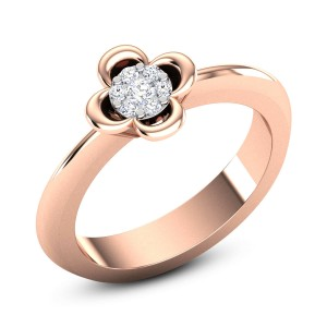 Braedyn Diamond Floral Ring