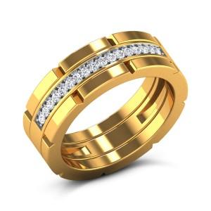 Dafydd Diamond Band Ring