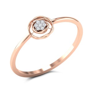 Vasin 7 Stone Diamond Floral Ring