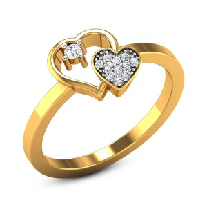 Ursa Dual Heart Diamond Ring