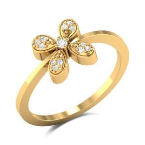 Anurathi Diamond Floral Ring