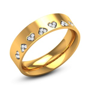 Vedette Hearty Diamond Band Ring