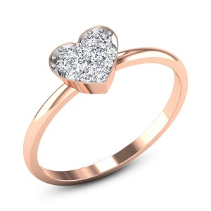 Prunella Heart Diamond Ring