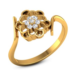 Candace Diamond Floral Ring