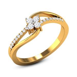 Araceli Diamond Floral Ring