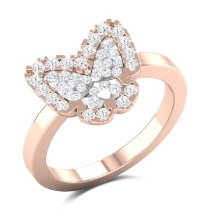 Quineta Butterfly Diamond Ring