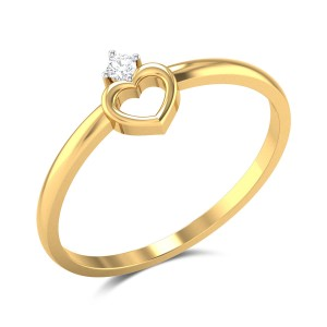 Hakon Heart Diamond Ring