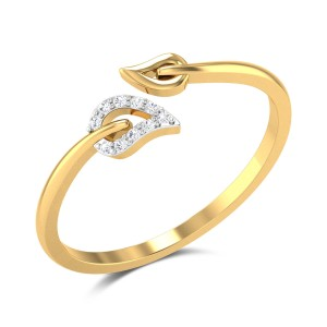 Halden Leafy Diamond Ring