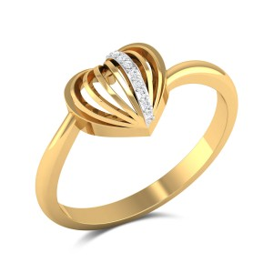 Gitana Diamond Heart Ring