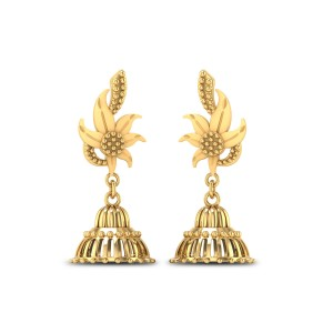 Buy Cambria 6.45 Gms Gold Jhumka Earrings Online