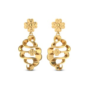 Buy Floral Twist 5.01 Gms Gold Earrings Online