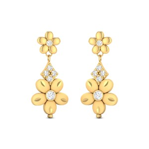 Fiona Gold & CZ Dangle Earrings