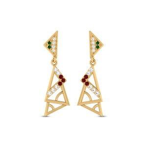 Bryony Gold & CZ Earrings