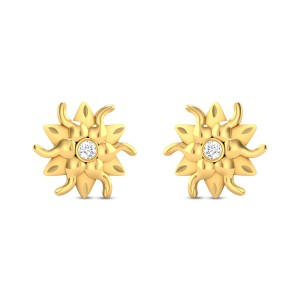 Thalia Gold & CZ Earrings