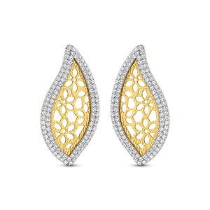 Yolanda Gold & CZ Earrings