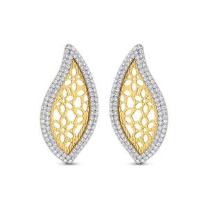 Yolanda Gold & CZ Earrings