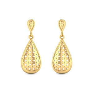 Classic Lattice Hanging Earrings
