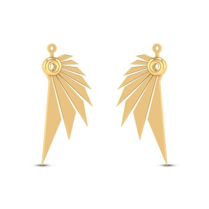 Abeena Gold Stud Earrings