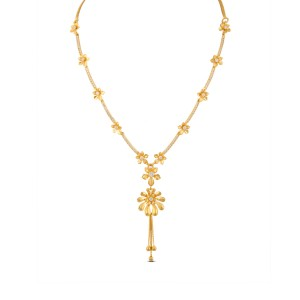 Diya Gold & CZ Necklace