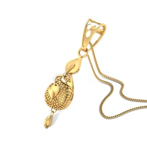 Buy Flavia Gold Pendant in 3.05 Grams Gold Online