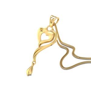Niral Heart Gold Pendant