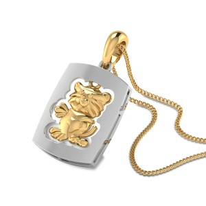 Quentessa Gold Dog Tag Pendant