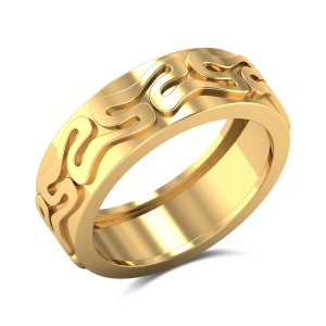 Curve N Curve Gold Ring