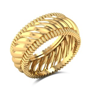 Adarsha Queenly Gold Ring