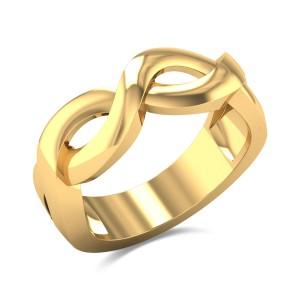 Ahladitha Plait Gold Ring