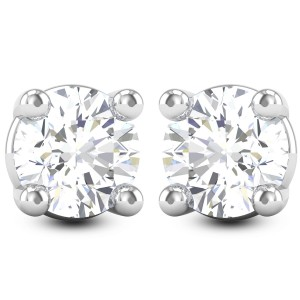 Aishi Solitaire Stud Earrings