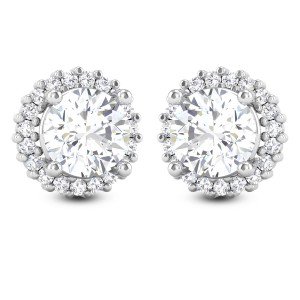 Aishna Solitaire Stud Earrings