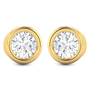 Akanksha Bezel Solitaire Stud Earrings