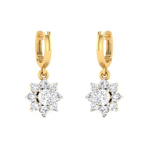 Dropping Stars Solitaire Earrings