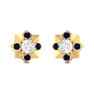 Wynter Sapphire Solitaire Earrings