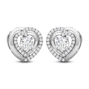 Jerome Dual Heart Solitaire Earring