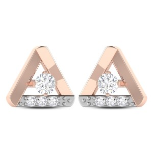 Fleta Triangular Shape Solitaire Earring