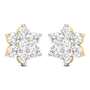 Zul 7 Stone Solitaire Stud Earrings