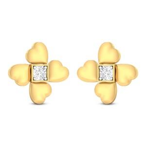 Welma Hearty Solitaire Stud Earrings