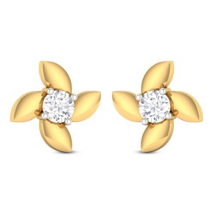 Ulfa Solitaire Stud Earrings