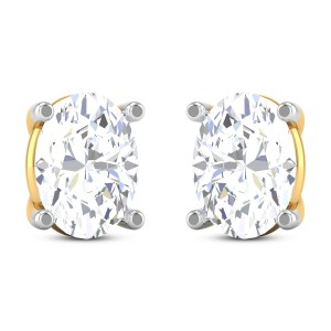 Talon Solitaire Stud Earrings