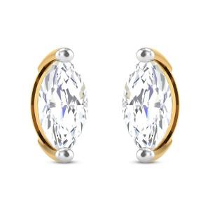 Galene Solitaire Stud Earrings