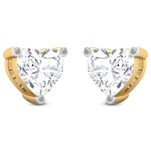 Hawke Solitaire Heart Studs