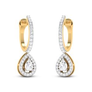 Glenwood Solitaire Hoop Earrings